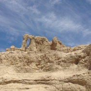 these rock structures look like two kissing camels!
