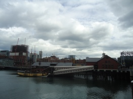 The site of the Boston Tea Party.