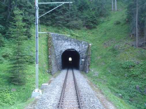 Exiting a tunnel.