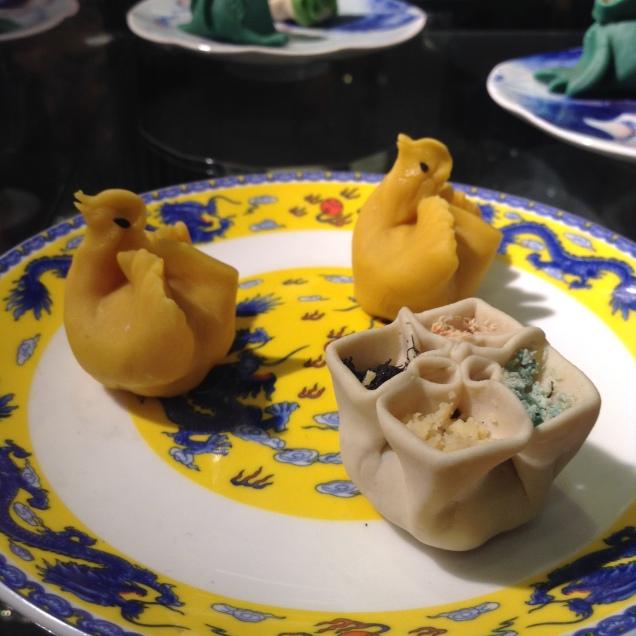 duck-shaped dumplings