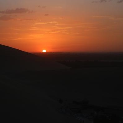 sunset on the gobi desert
