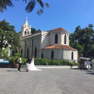 a chapel (gulangyu is a really popular marriage photoshoot destination)