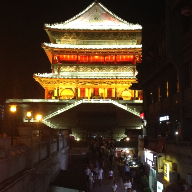 Xi'an city gate at night