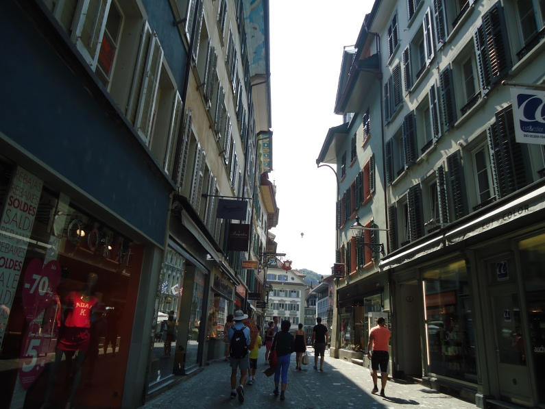 Swiss streets are narrow. Then again, the nation is only 15,000 sq. km.
