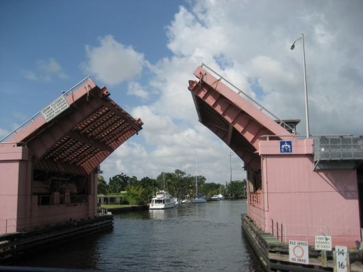 Bridges are flexible to allow for ships.