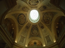 The ceiling of this dome is beautiful.