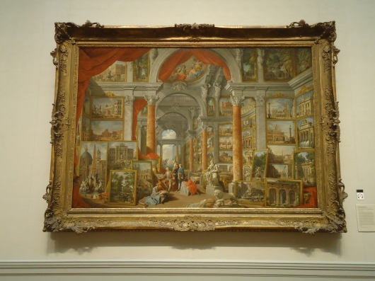 Picture Gallery with Views of Modern Rome - Giovanni Paolo Pannini
