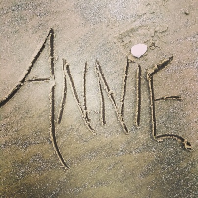 the Galveston beach at Bolivar Peninsula was incredibly foggy, so here's my name in the sand