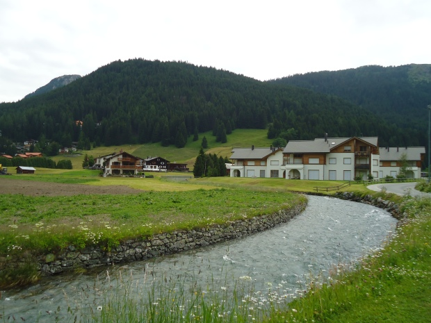 Small farms dot the edge of Davos.