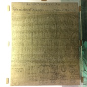 a copy of the signed Declaration
