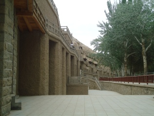 another side-view of mogao grottos