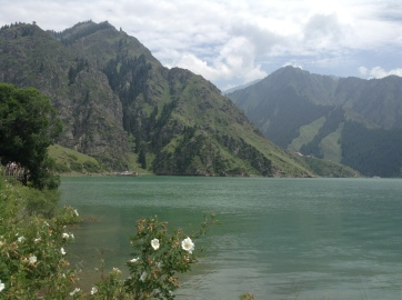 the lake is said to be the palace of the queen mother of the west