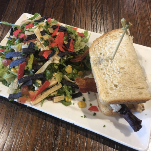 Monterey Club Sandwich & Chicken Avocado Chopped Salad (First Watch)