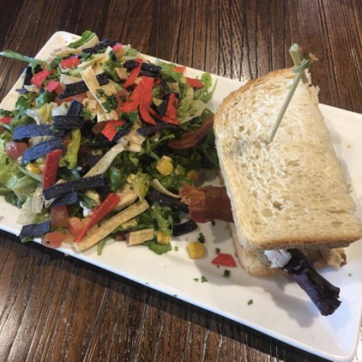 Monterey Club Sandwich & Chicken Avocado Chopped Salad (First Watch)