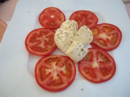My all-time favorite dish - caprese salad.