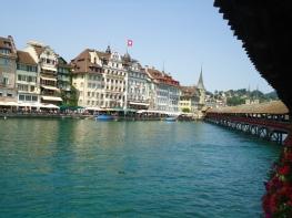 The flower bridge at Lucerne.