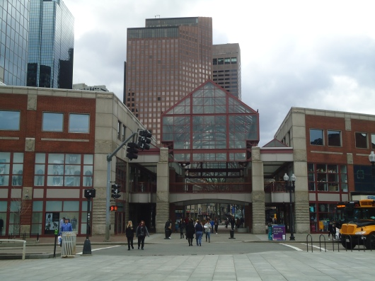 Quincy Market during the day.