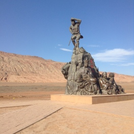 flaming mountains: it's 66 degrees Celsius here (more than 120 degree Fahrenheit!)