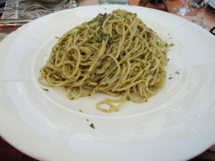 The real pesto spaghetti.