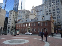 The Boston Massacre happened right in front of this building (the State House).