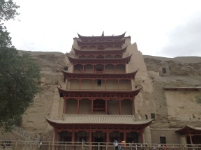 front view of mogao grottos