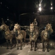 The only fully preserved four-horsed chariot unearthed from the terracotta warrior tombs.