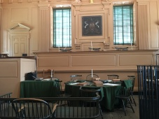 courtroom inside the hall